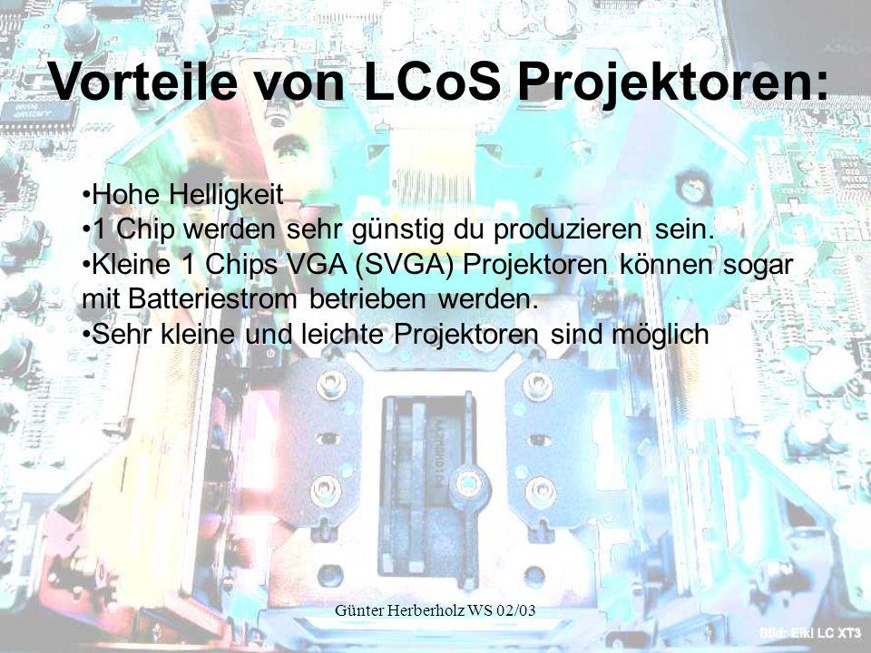 Vorteile von LCoS Projektoren: