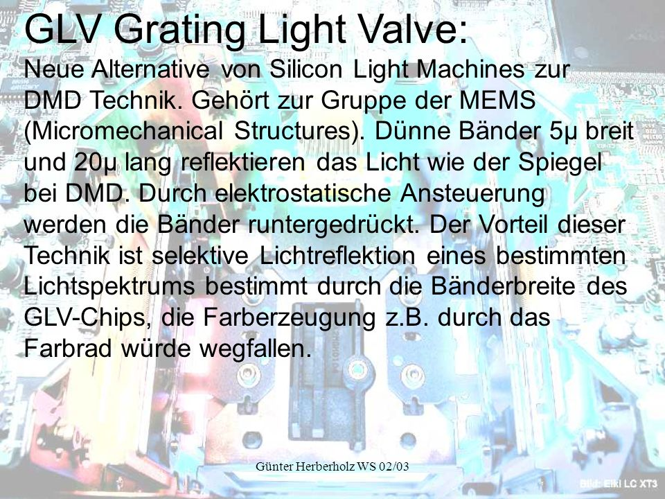 GLV Grating Light Valve: