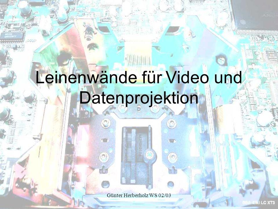 Leinenwände für Video und Datenprojektion