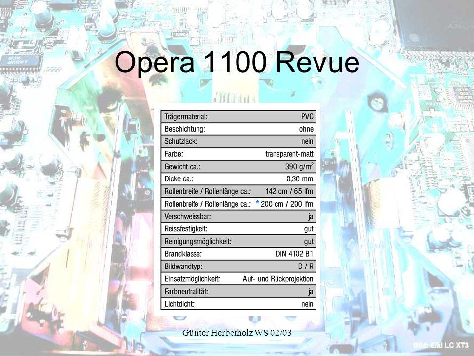 Opera 1100 Revue Günter Herberholz WS 02/03