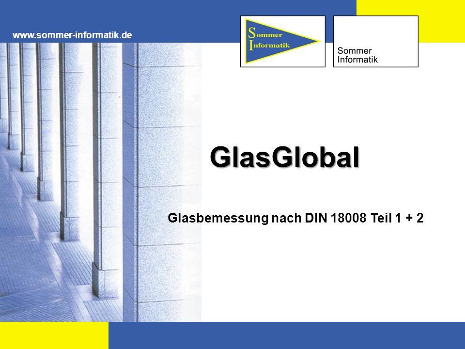 Glasbemessung nach DIN 18008 Teil 1 + 2