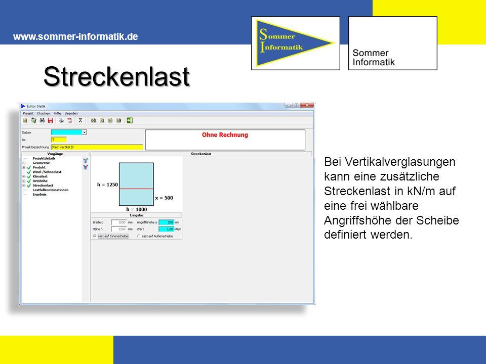 www.sommer-informatik.de Streckenlast.