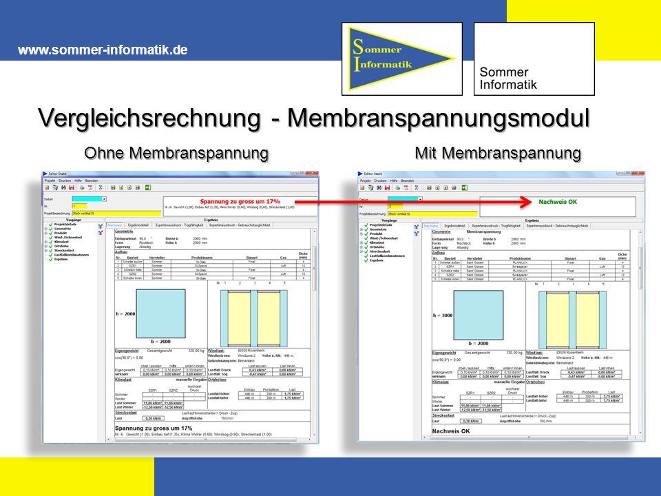 Vergleichsrechnung - Membranspannungsmodul