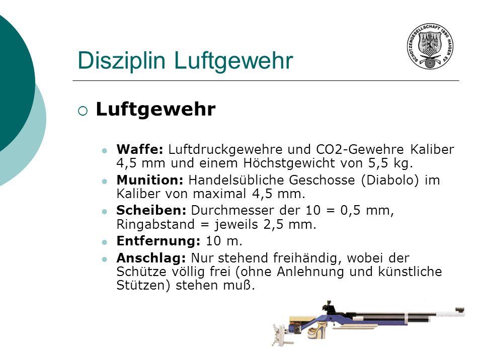 Disziplin Luftgewehr Luftgewehr