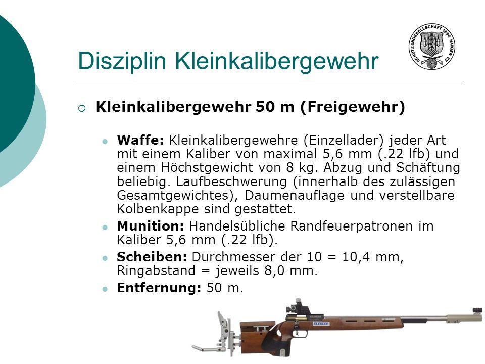 Disziplin Kleinkalibergewehr