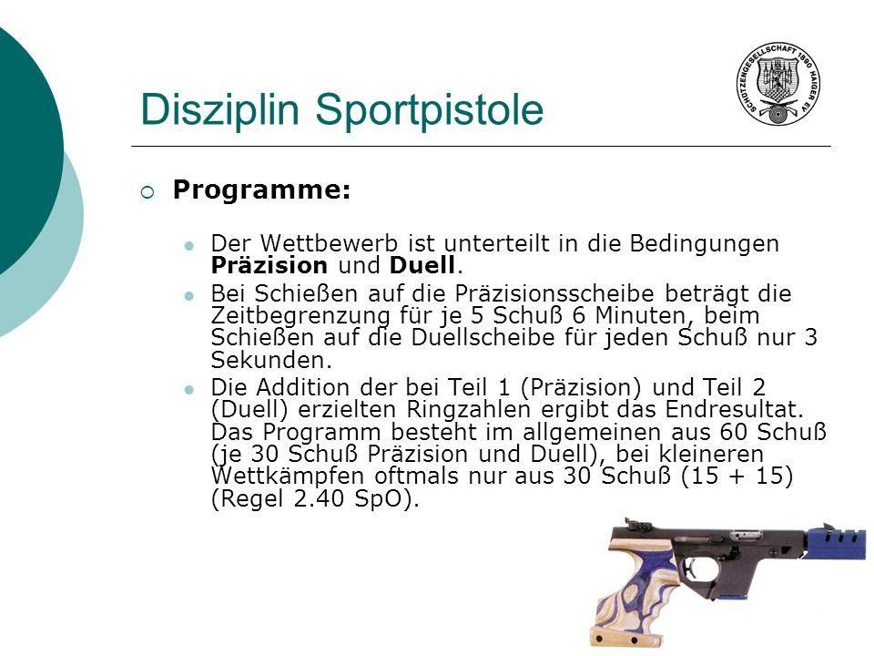 Disziplin Sportpistole
