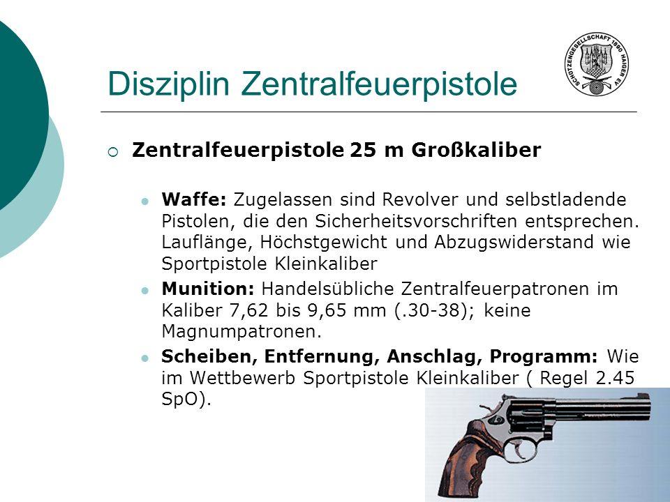 Disziplin Zentralfeuerpistole