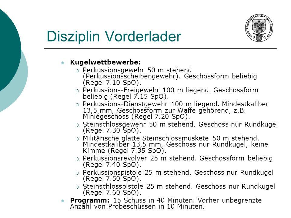Disziplin Vorderlader