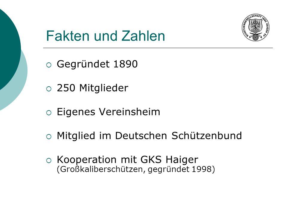 Fakten und Zahlen Gegründet 1890 250 Mitglieder Eigenes Vereinsheim