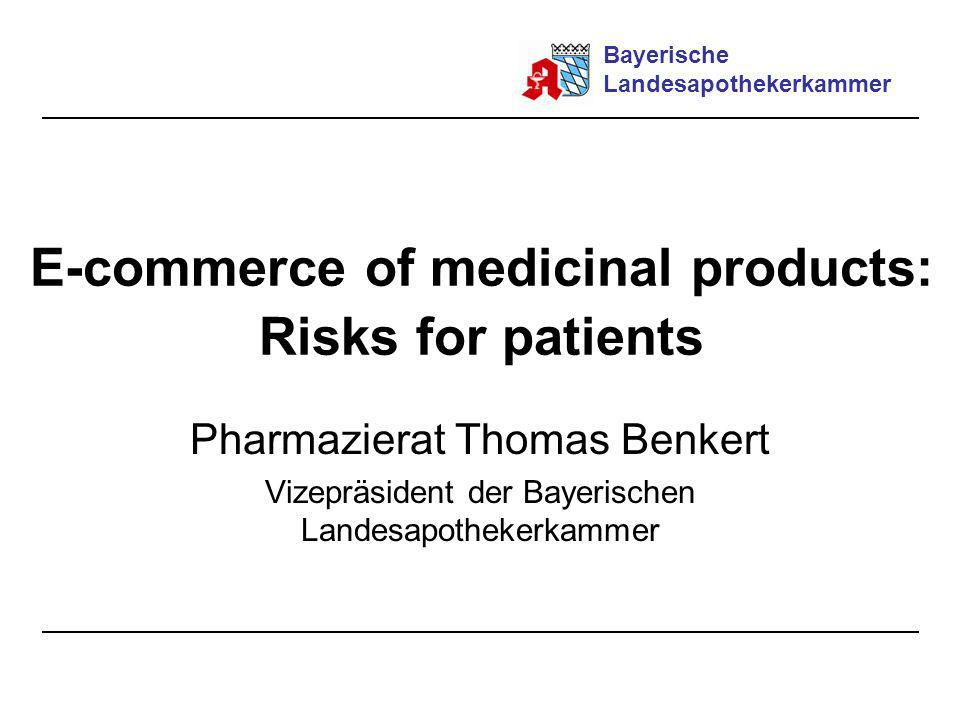 E-commerce of medicinal products: Risks for patients