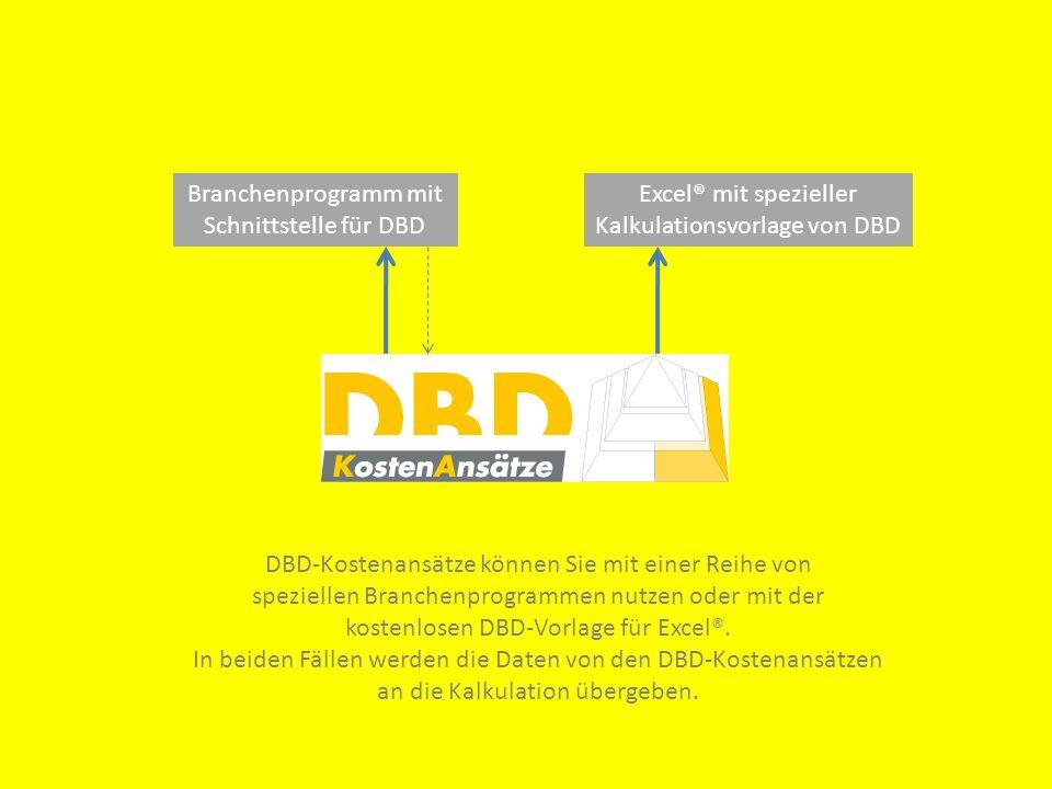Kalkulationsvorlage von DBD