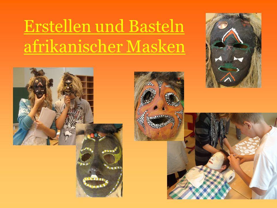 Erstellen und Basteln afrikanischer Masken