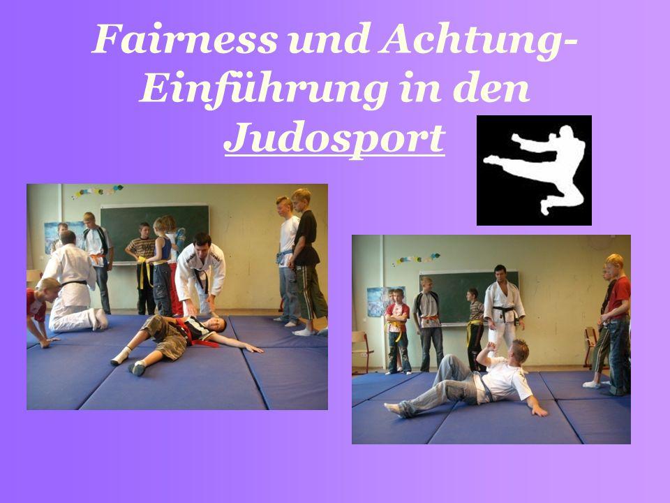 Fairness und Achtung- Einführung in den Judosport