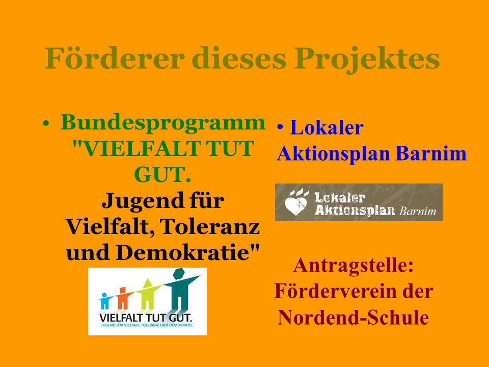 Förderer dieses Projektes