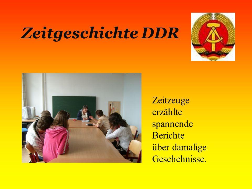 Zeitgeschichte DDR Zeitzeuge erzählte spannende Berichte über damalige