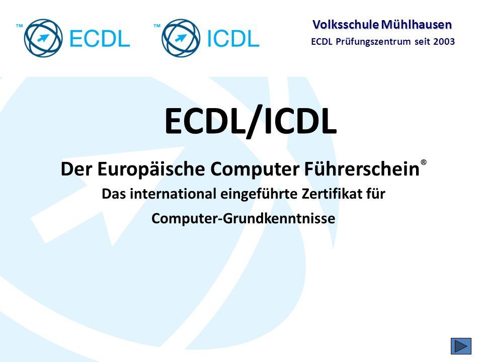 ECDL/ICDL Der Europäische Computer Führerschein® Das international eingeführte Zertifikat für Computer-Grundkenntnisse.