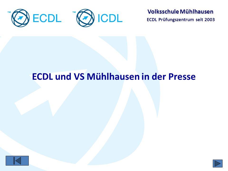 ECDL und VS Mühlhausen in der Presse