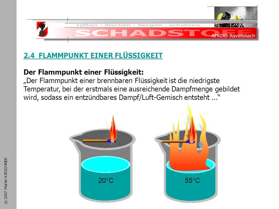 Schadstoffeinsatz 2.4 FLAMMPUNKT EINER FLÜSSIGKEIT