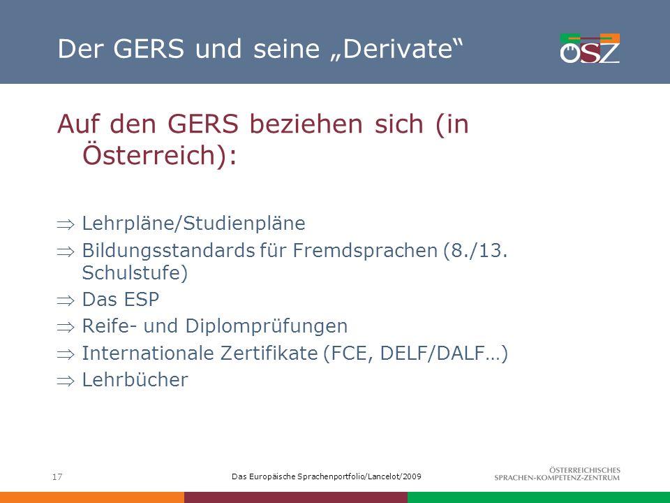 """Der GERS und seine """"Derivate"""