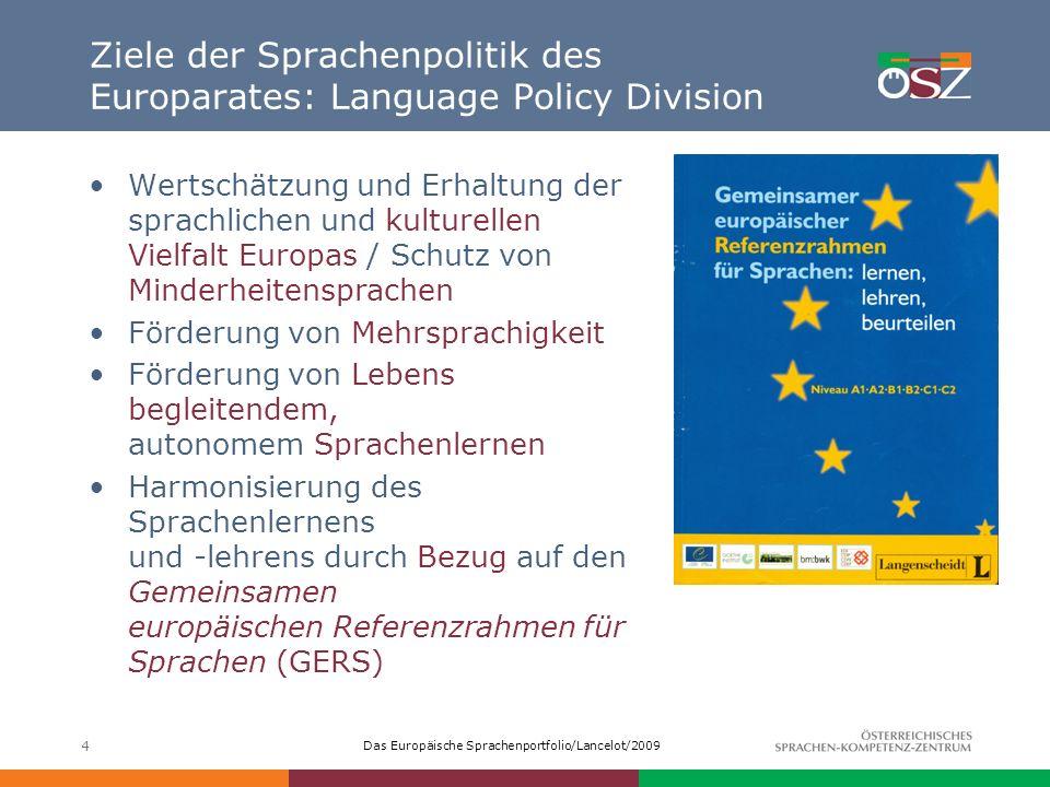 Ziele der Sprachenpolitik des Europarates: Language Policy Division