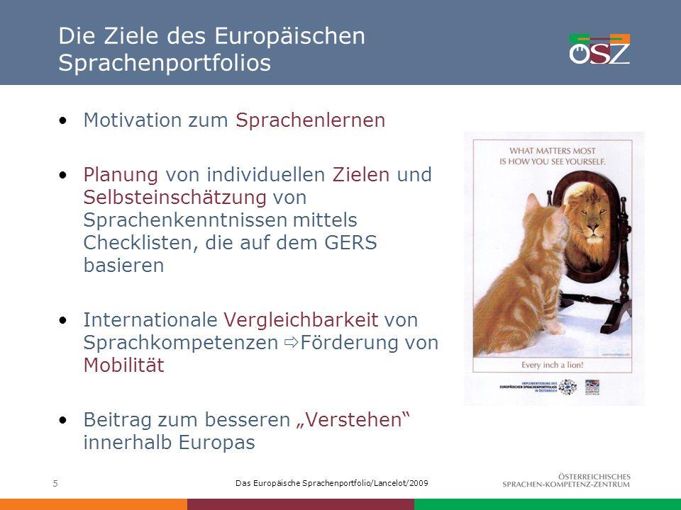 Die Ziele des Europäischen Sprachenportfolios