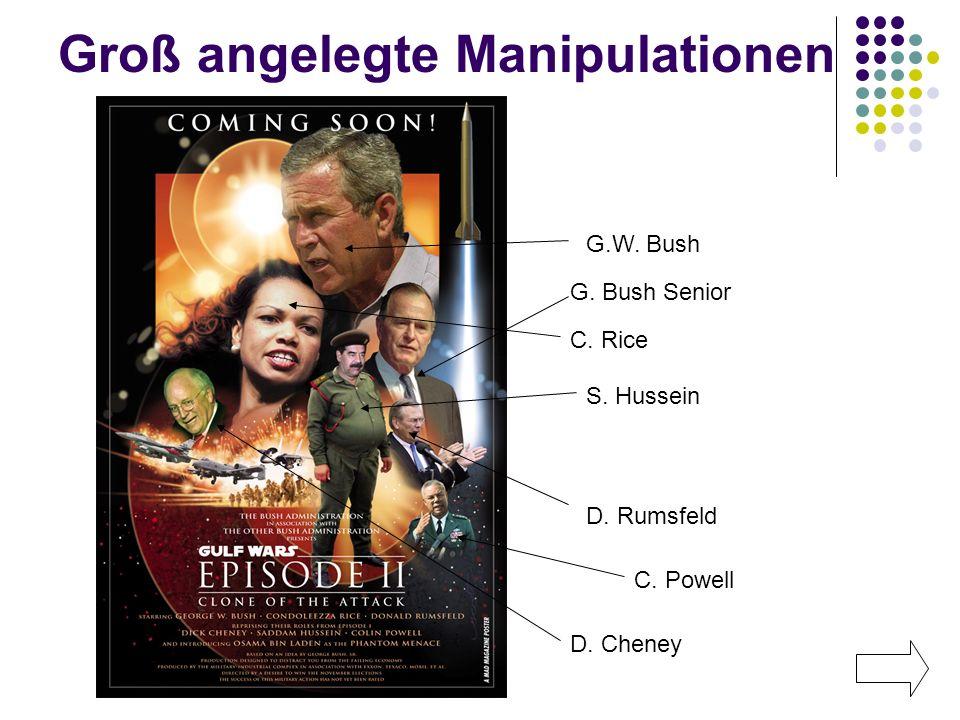 Groß angelegte Manipulationen