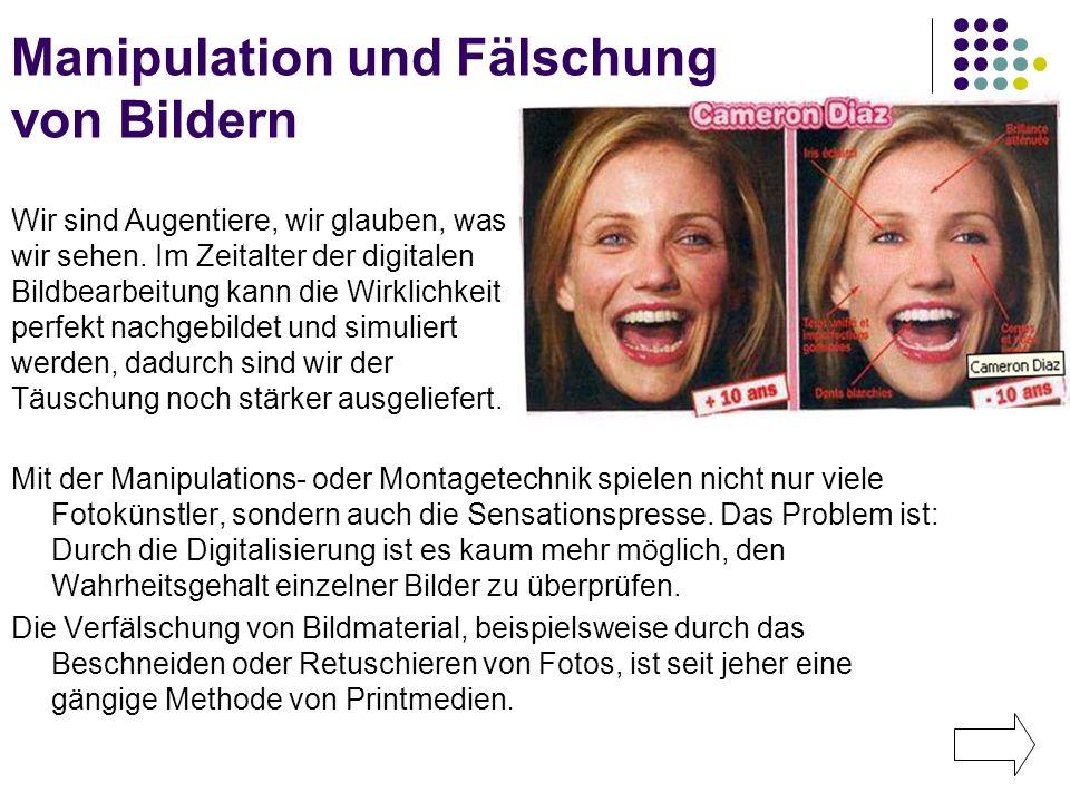 Manipulation und Fälschung von Bildern