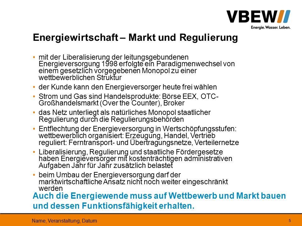 Energiewirtschaft – Markt und Regulierung