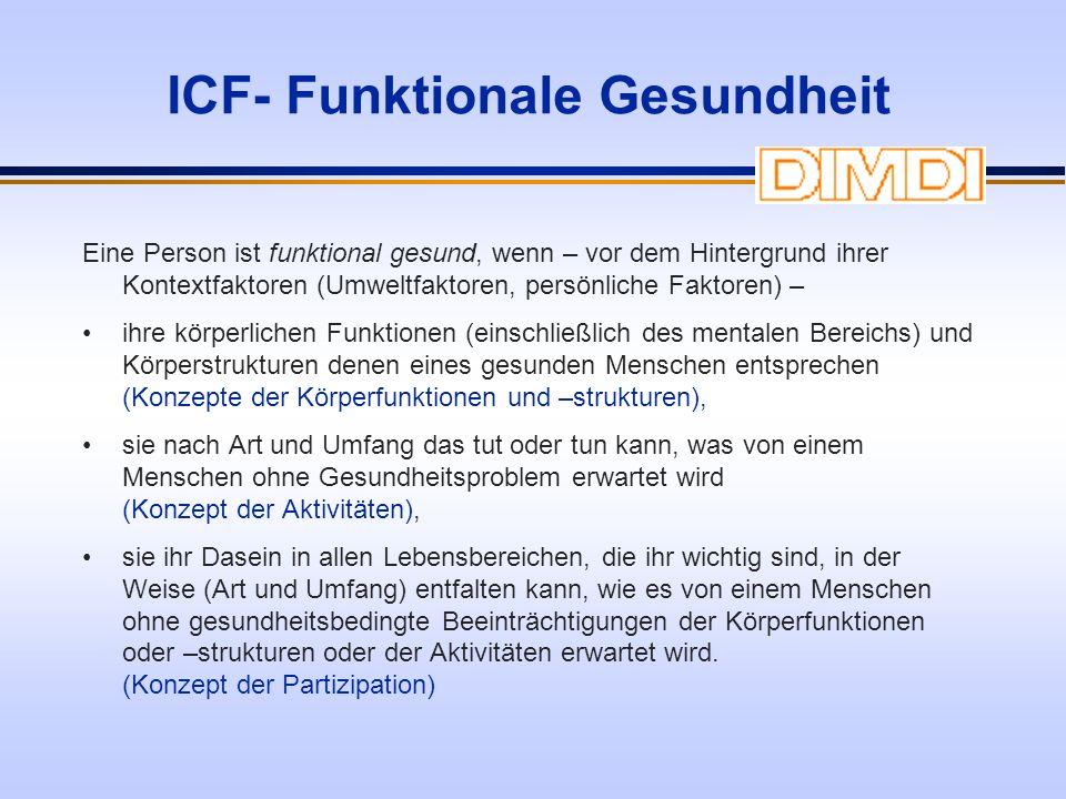 ICF- Funktionale Gesundheit