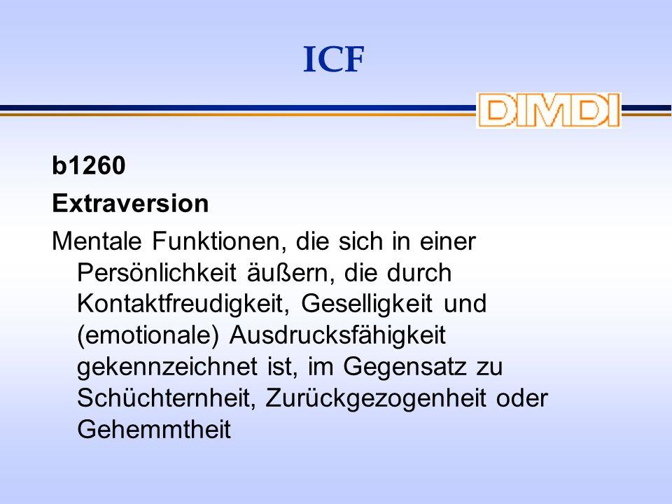 ICF b1260. Extraversion.