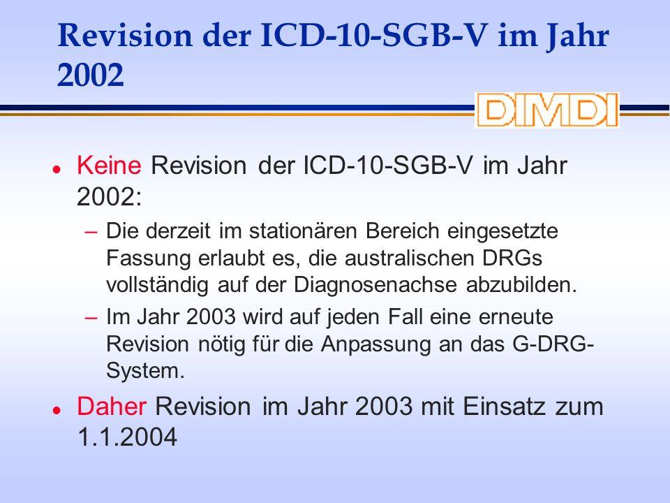 Revision der ICD-10-SGB-V im Jahr 2002