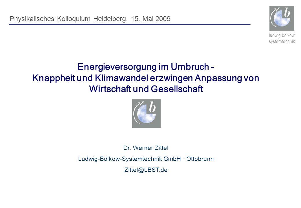 Ludwig-Bölkow-Systemtechnik GmbH · Ottobrunn