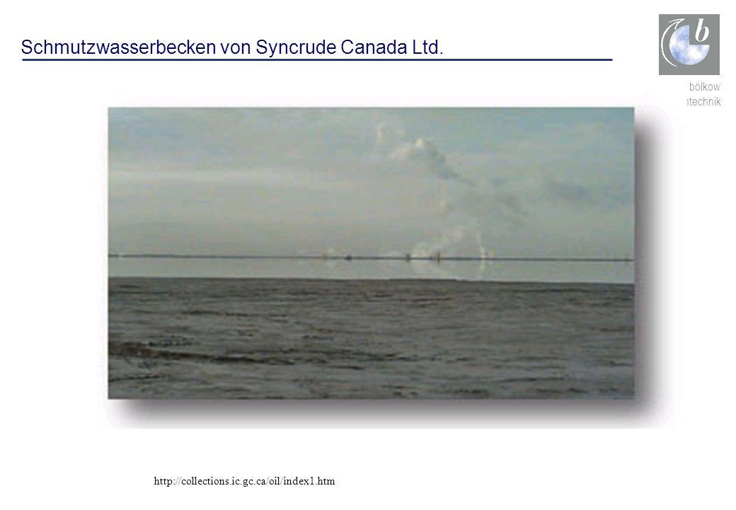 Schmutzwasserbecken von Syncrude Canada Ltd.