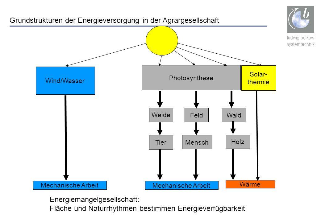 Grundstrukturen der Energieversorgung in der Agrargesellschaft