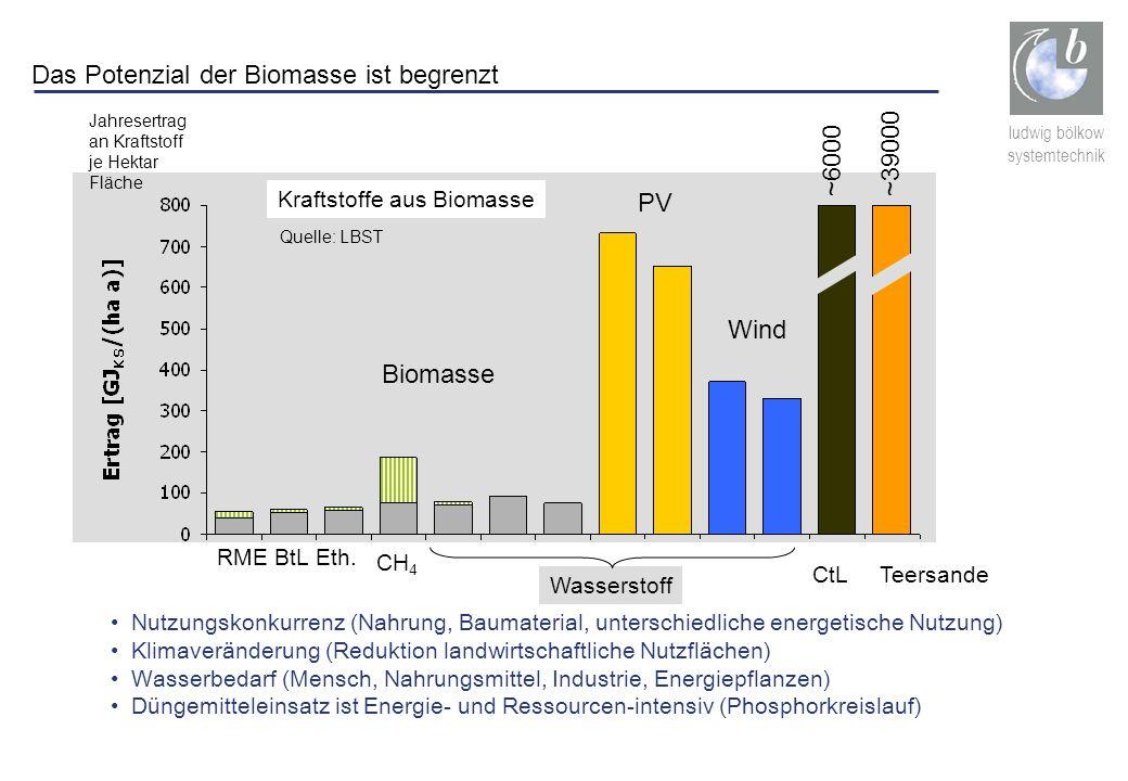 Das Potenzial der Biomasse ist begrenzt