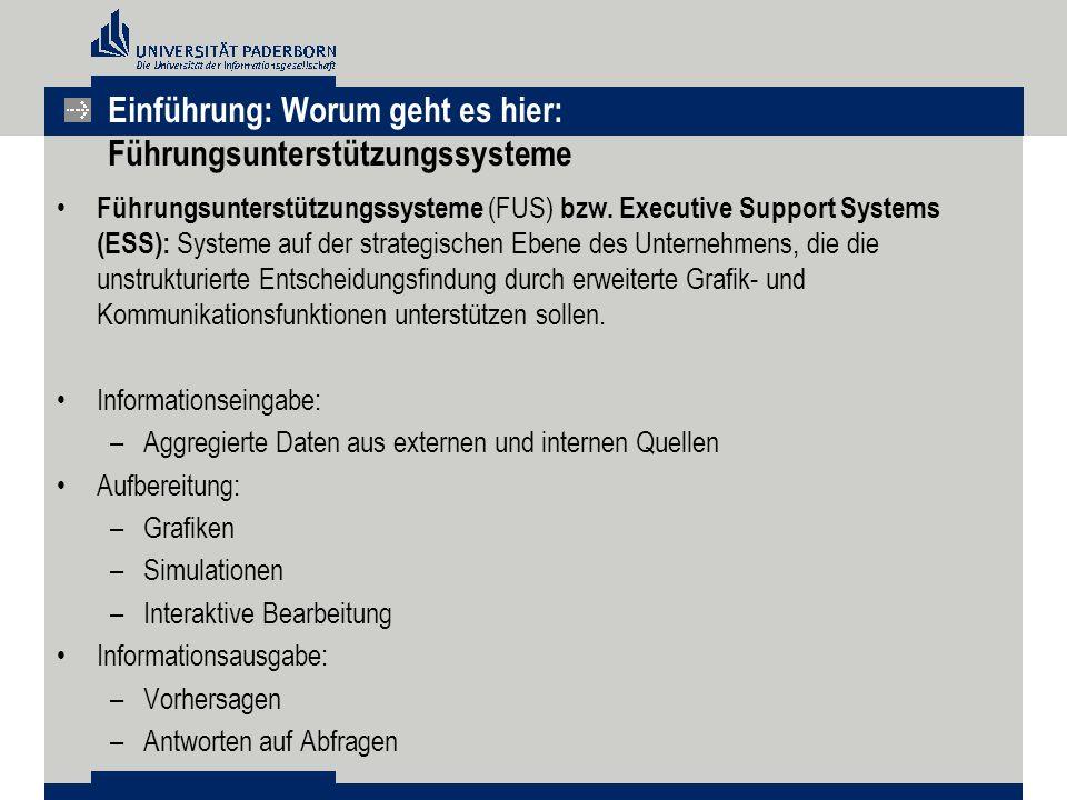 Einführung: Worum geht es hier: Führungsunterstützungssysteme