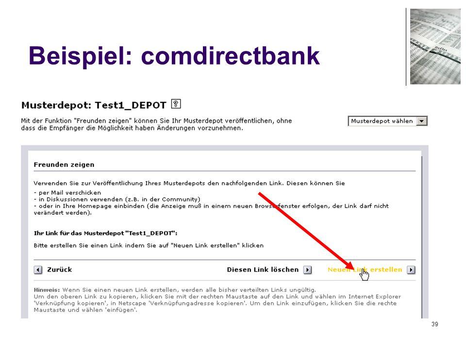 Beispiel: comdirectbank