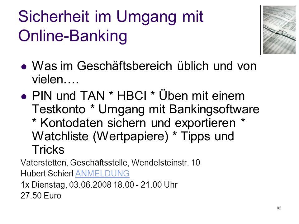 Sicherheit im Umgang mit Online-Banking