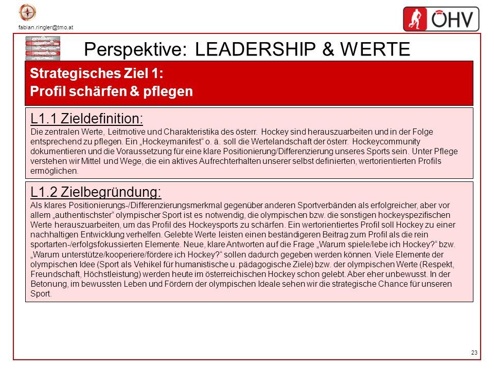 Perspektive: LEADERSHIP & WERTE