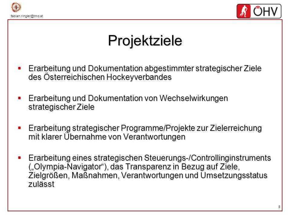 Projektziele Erarbeitung und Dokumentation abgestimmter strategischer Ziele des Österreichischen Hockeyverbandes.