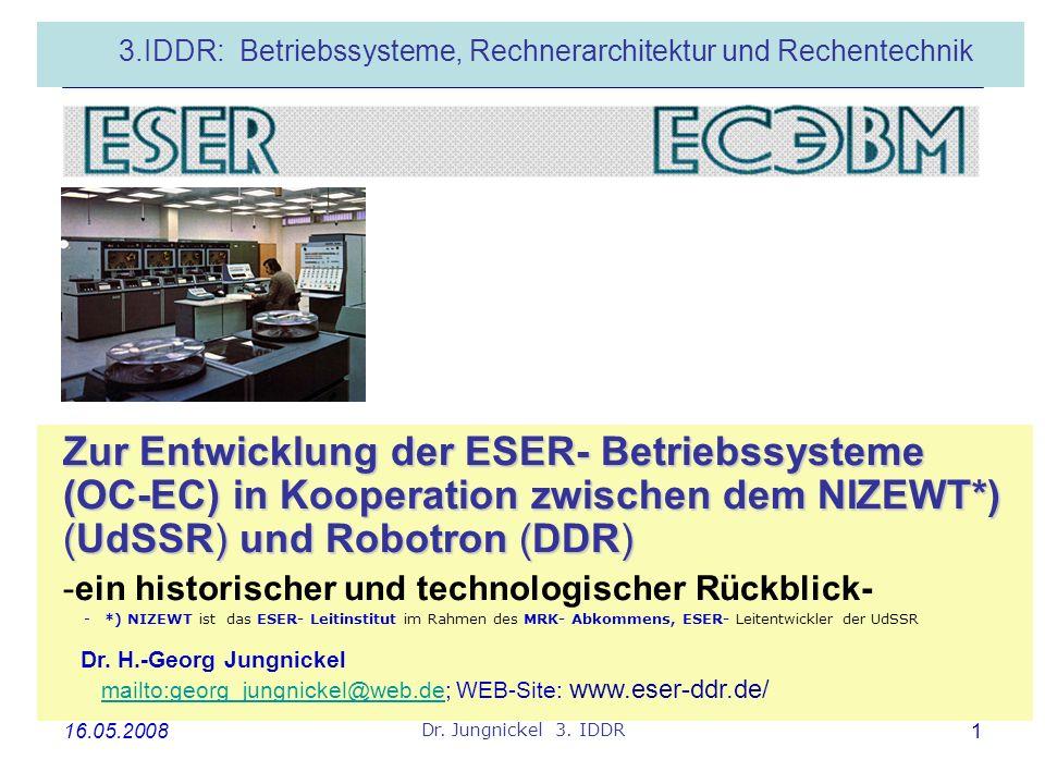 3.IDDR: Betriebssysteme, Rechnerarchitektur und Rechentechnik