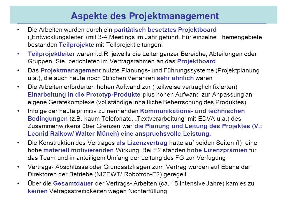 Aspekte des Projektmanagement