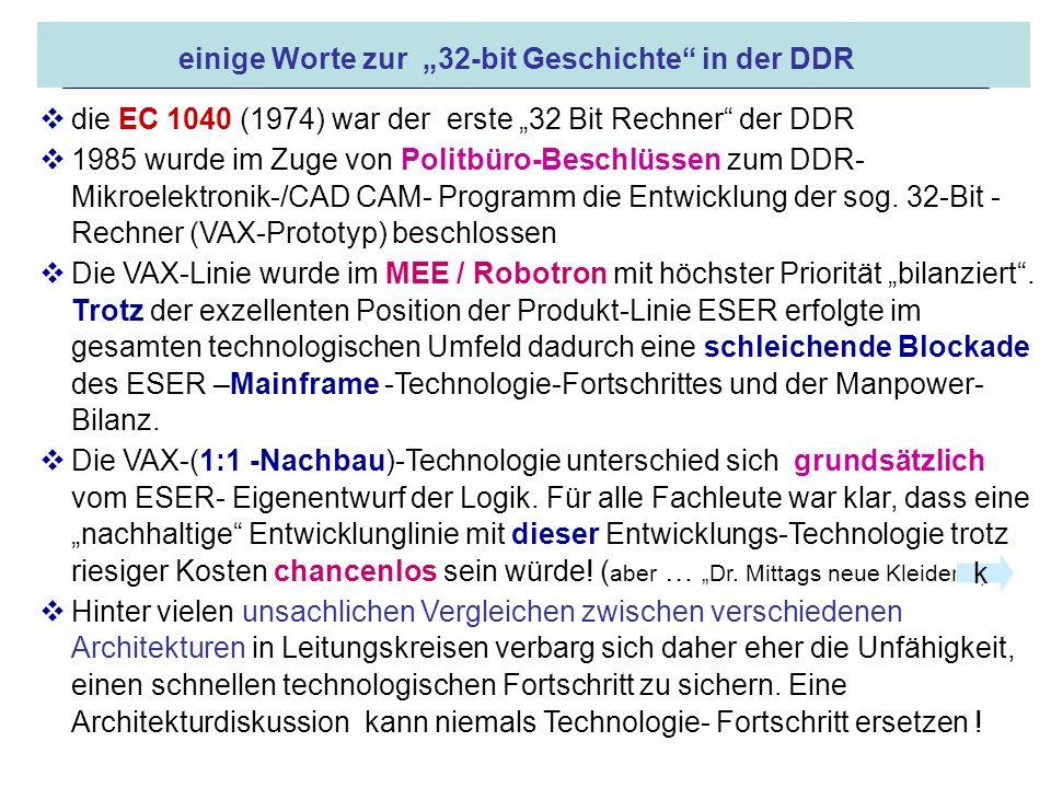 """einige Worte zur """"32-bit Geschichte in der DDR"""