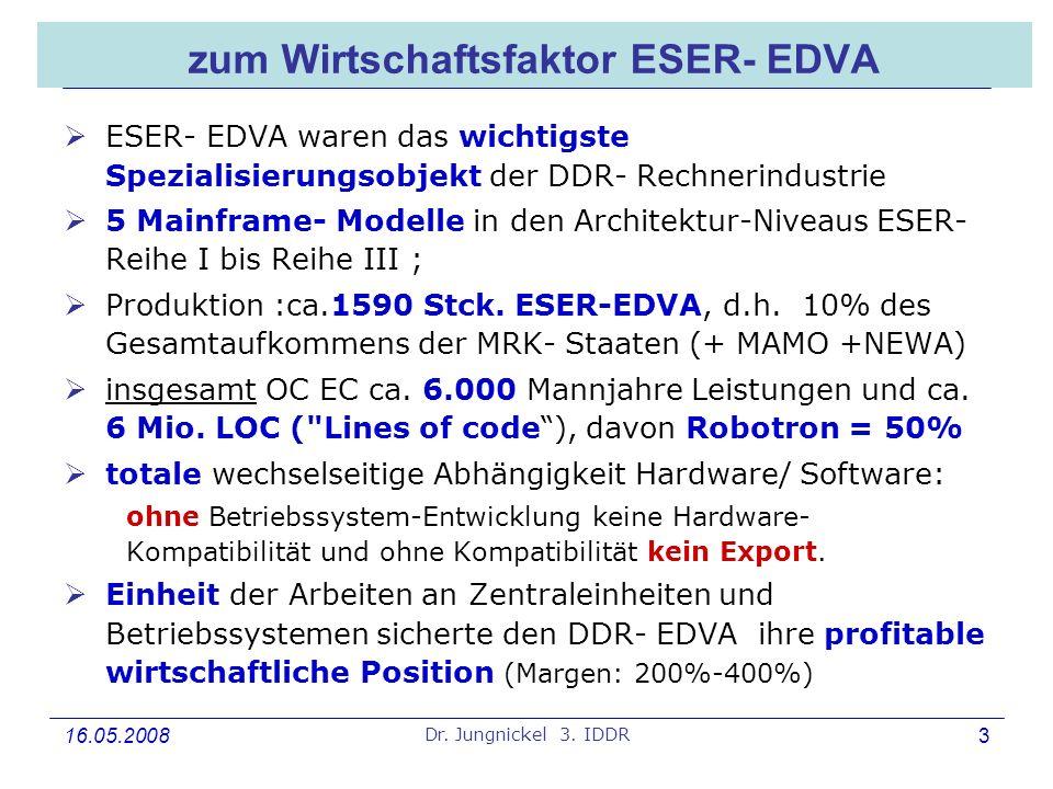 zum Wirtschaftsfaktor ESER- EDVA