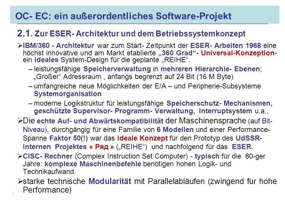 OC- EC: ein außerordentliches Software-Projekt