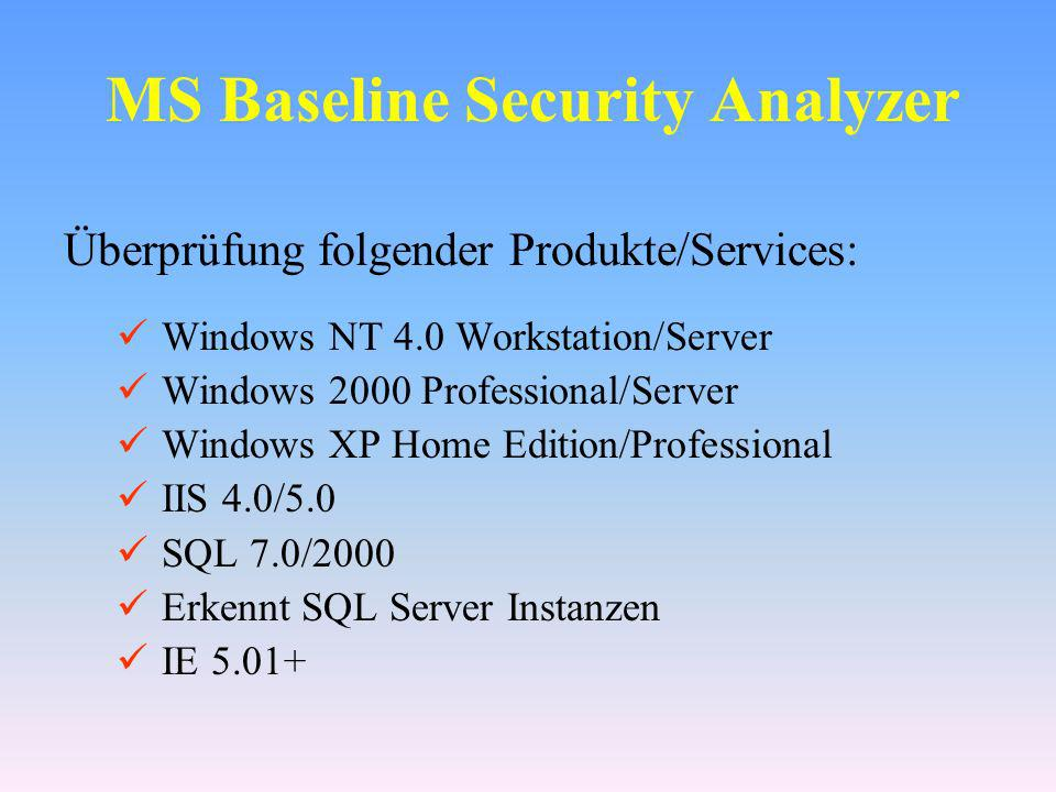 MS Baseline Security Analyzer