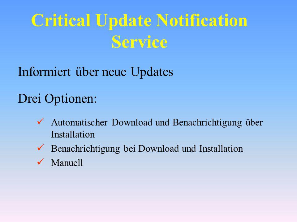 Critical Update Notification Service