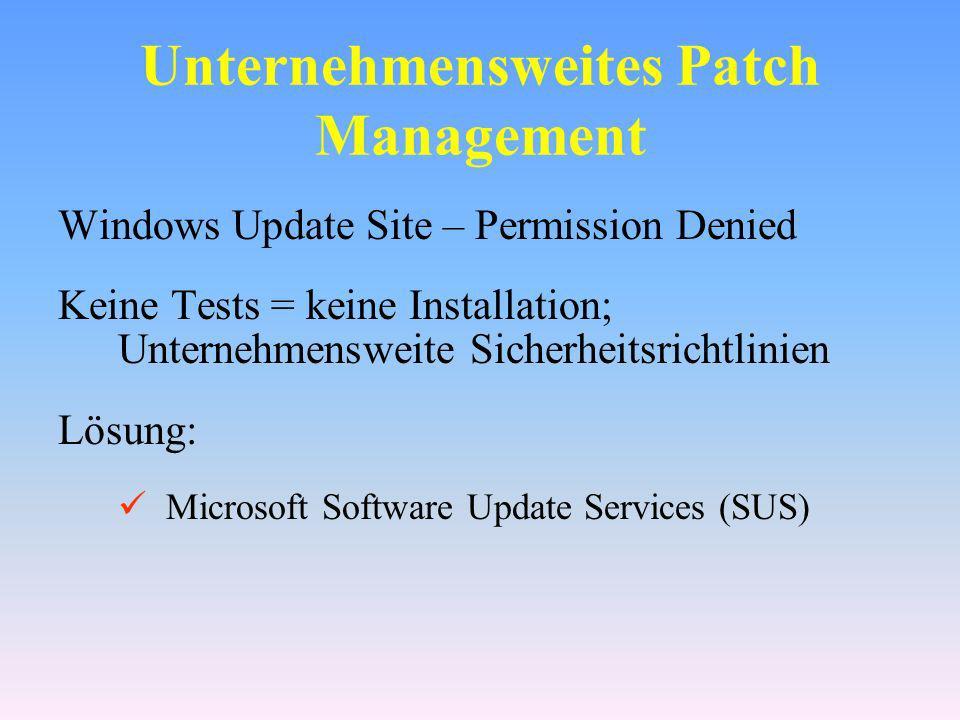 Unternehmensweites Patch Management
