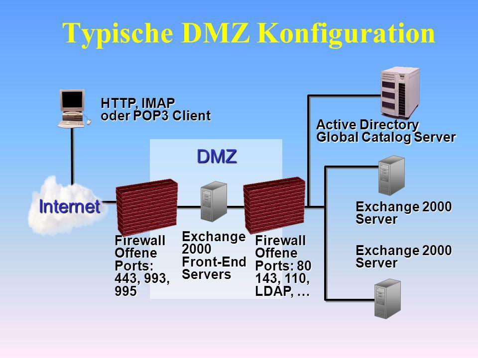Typische DMZ Konfiguration