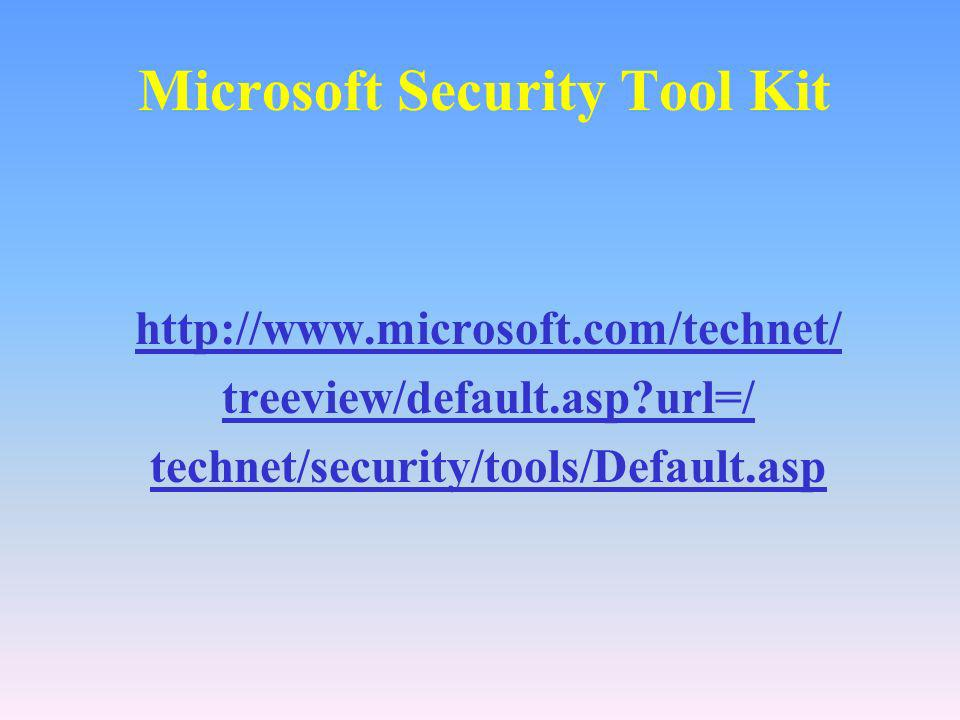 Microsoft Security Tool Kit